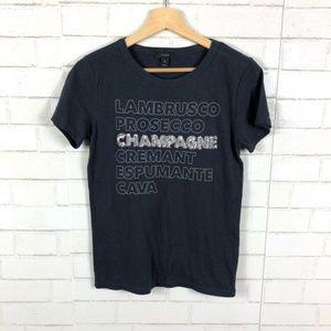 J. Crew Champagne Sequin Graphic Tee